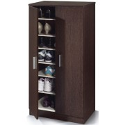 Zap Wenge 6 Shelves Shoe Cabinet