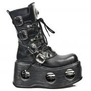 bottes en cuir pour femmes - NEW ROCK - M.373-S2