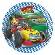 Set 8 farfurii mici Mickey Mouse Roadster