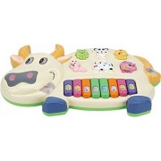SmartPick Cow Musical Piano with 3 Modes Animal Sounds, Flashing Lights & Wonderful Music