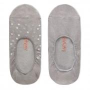 Timberland Deux Paires De Socquettes Pour Femme En Gris Gris, Taille L