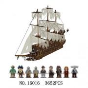 Generic Lepine 16006 16016 Pirates of The Caribbean 16009 Queen Anne's Revenge 16042 22001 06057 Model Movie Series Building Blocks Set 16016