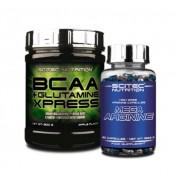 BCAA+Glutamine Xpress 300 g citrus mix + Mega Arginine 90 kapsz. (szett) Scitec Nutrition