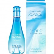 Davidoff cool water pure pacific for her 100 ml eau de toilette edt spray limited edition profumo donna