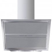 SMEG KCV9SGE 90 cm Fläktkåpa För Väggmontering Rostfritt Stål Och Silverglas