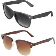 Zyaden Combo of Wayfarer Sunglasses Clubmaster Sunglasses (Combo-53)