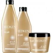 Redken All Soft Trio Shampoo + Conditioner + Inpackning
