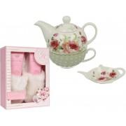 Set cadou cosmetice ceainic cu trandafiri