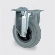 TENTE Transportrolle 200 mm, plastikscheibe, grauer gummi
