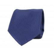 Krawatte Seide Karo Blau 9-17 - Blau
