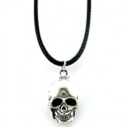 Inception Pro Infinite Pendant Necklace with Skull Symbol Lace in Black Cord Can Gift Idea for Kids Unisex Men Women Girls Boy Girl Man Special Woman