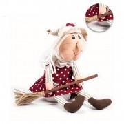 Fermaporta ferma porta pupazzo stoffa Befana soprammobile Natale idea regalo