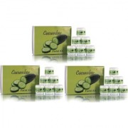Adidev Herbals Cool Fresh Cucumber Facial Kit Combo (Set Of 3)