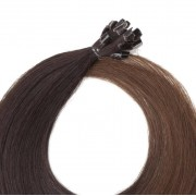 Rapunzel® Extensions Naturali Nail Hair Original Liscio O2.3/5.0 Chocolate Brown Ombre 40 cm