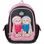 Jack&Lin Школьный рюкзак Заяц Жак и Зайка Лин в зимней одежде