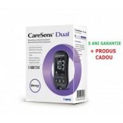 CareSens Dual glucometru - glucoza si cetone, testare rapida si precisa, bluetooth, nu necesita codare + CADOU pila unghii