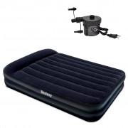 Bestway nafukovacia semišová posteľ s externou pumpou 203x157x47 cm
