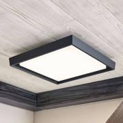 Lampenwelt.com LED buitenplafondlamp Birta, hoekig, 34 cm