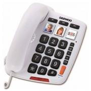 Daewoo Fasttelefon för Seniorer Daewoo DTC-760 LED Vit
