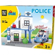Joc de constructie Mubi Sectia de politie Blocki, 38 piese, 3 - 7 ani