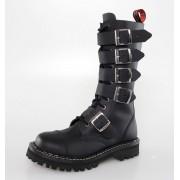 Lederstiefel/Boots KMM 14 Loch - 5P - Black - 139/140
