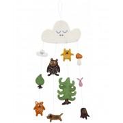 Klippan Yllefabrik Little bear mobil handfiltad ull, klippan yllefabrik