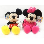 Disney Mickey and Minnie Mouse Combo Imported Stuffed Plush 30cm