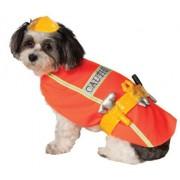 Rubie's Costume Company Disfraz de obrero de construcción para Mascotas, Multicolor, Pequeño