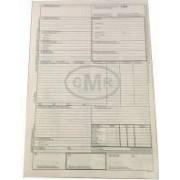 CMR International Format A4 6 Exemplare 25 Seturi pe Carnet - Scrisoare de Transport si Formular Marfa