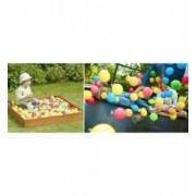 Set 200 bile colorate pentru joaca sau piscine copii multicolore diametru bila 6 cm