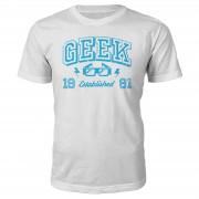 The Geek Collection Camiseta Geek Established 1980 - Hombre - Blanco - XL - 1981