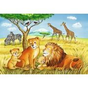 Puzzle Ravensburger - Elefant, Lion & Co., 2x12 piese (07606)