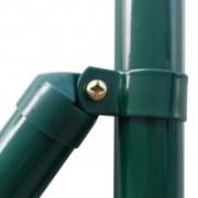vidaXL Euro hek set 25x1 m staal groen