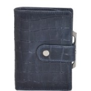 MANDAVA Women Casual Blue Genuine Leather Wallet(8 Card Slots)
