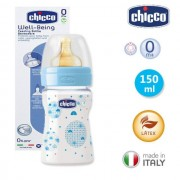Biberon Chicco WellBeing PP, boy, 150ml, t.c., flux normal, 0+luni, 0%BPA