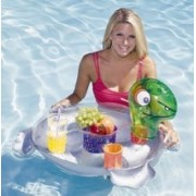 AquaFun Turtle Caddy Floating Bar Inflatable for Swimming Pool / Spa