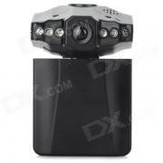 """2?5 """"TFT HD 720P 120"""" gran angular infrarrojos de vision nocturna coche DVR - Negro"""