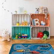 House of Kids speelkleed Cars 70 x 95 cm blauw