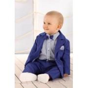 Costum ceremonie baieti bebe elegant Royal Blue 68 cm 4-6 luni