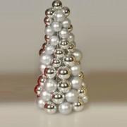 Albero composto da piccole sfere decoLED. 30 cm, argento