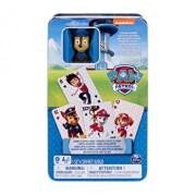 Carti de joc Jumbo, Patrula Catelusilor, cu figurina in cutie de metal