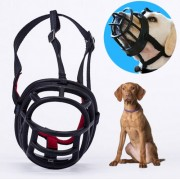 Dog Muzzle Prevent Biting Chewing and Barking Allows Drinking and Panting Size: 10.3*9.3*12.5cm(Black)