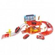 Set joaca parcare sectia de pompieri masinute accesorii decor
