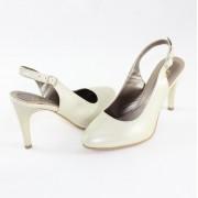 Pantofi piele naturala dama - bej, Nike Invest - toc inalt - S483-BejS