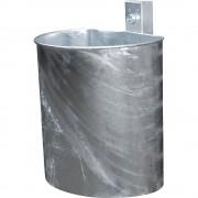 Abfallbehälter, feuerverzinkt Volumen 20 l, Korpus ungelocht HxBxT 340 x 325 x 230 mm