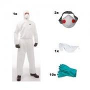 Kit Complet de Protection Corporelle pour Traitement Bois, Traitement Charpente