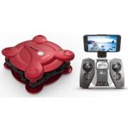 Drona iDrone cu brate pliabile camera Wifi si radiocomanda - rosu
