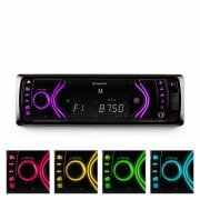 Auna MD-130 Autoradio Bluetooth SD USB AUX RDS 7 Farbmodi