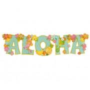 Colgante decorativo hawaiano de Aloha - 84 cm