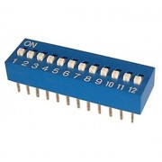 Life Dip Switch 12 Poli Per Circuiti Stampati Passo 2,54 Mm Tcs